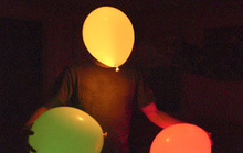 Step Into the Dark with 2,000 LED-Filled, Motion Sensitive Balloons!