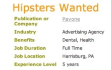 "PA Ad Agency Might Be First And Last People to Ever Say ""Hipsters Wanted"""