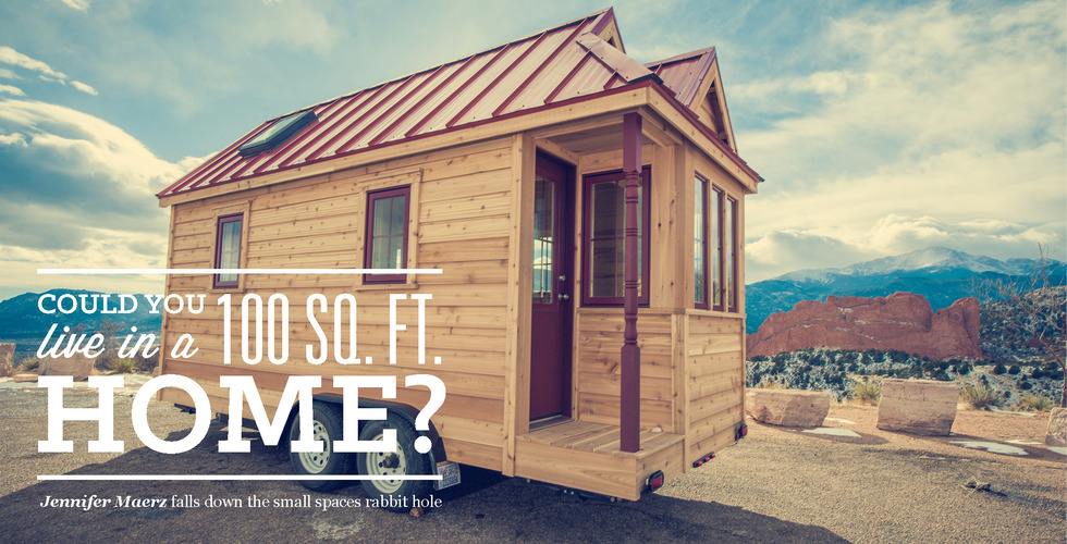 Could you live in a 100 sq ft home the bold italic 100 square foot house