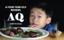 A Four-Year-Old Reviews AQ (with his face)