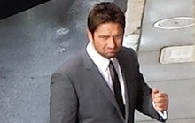 Gerard Butler Photographed in SF This Morning